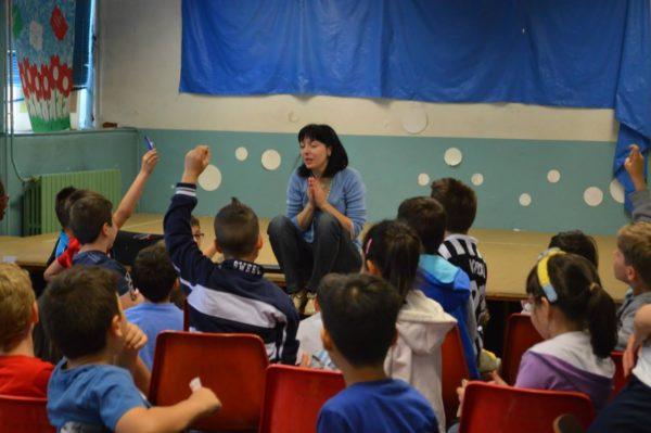 Sabrina Rondinelli a scuola