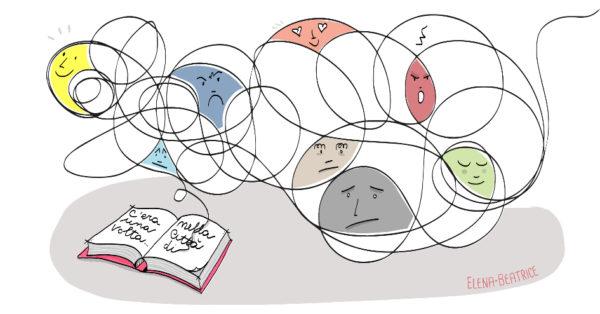 Libroterapia. Illustrazione di Elena Beatrice