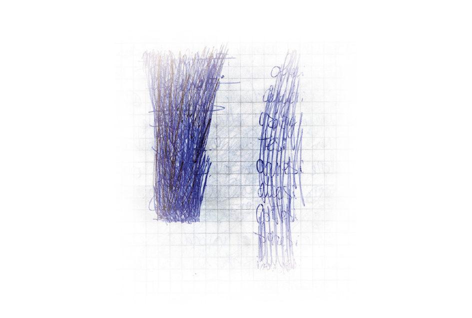 Verso estro sul quaderno a quadretti di Amedeo Granelli